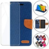 HYMY Bookstyle Flip Phone Case Cover Shell for Alcatel 3L
