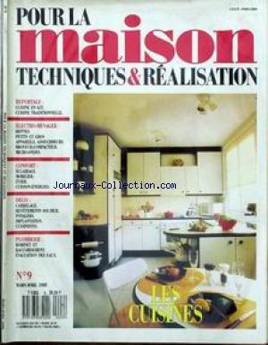 BRICOLAGE [No 9] du 01/03/1988 - POUR LA MAISON LES CUISINES...