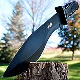 15' SURVIVAL HUNTING Full Tang Kukri FIXED BLADE KNIFE Machete Axe w/ SHEATH