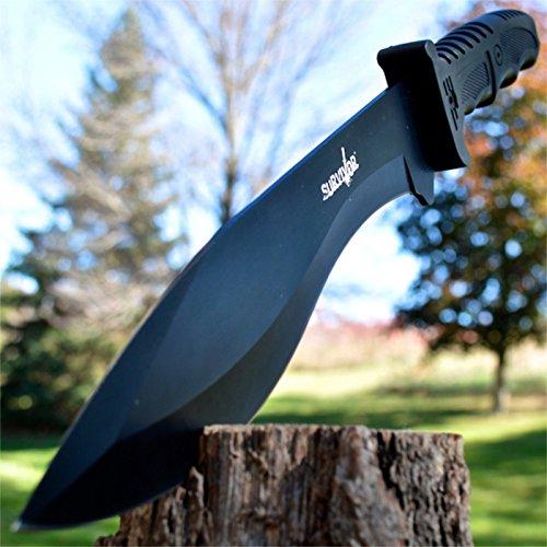 "15"" SURVIVAL HUNTING Full Tang Kukri FIXED BLADE KNIFE Machete"