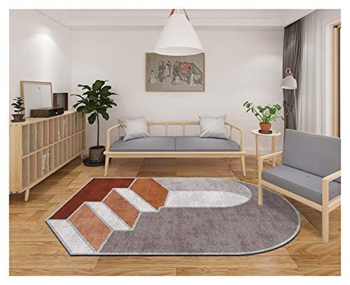 ZLSP Alfombras Área Blanda alfombras escaleras 3D patrón Irregular Peluche Tira Alfombra colchoneta para Sala de Estar Dormitorio Dormitorio bebé Camas (Size : 120x160cm/47.23X63INCH)