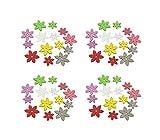 Deko-Blumen aus Holz bunt 56 Stück