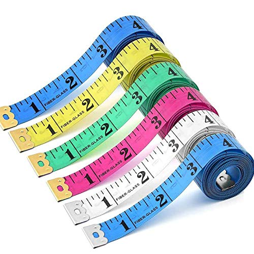 24 Pack 60 inches Double Scale Soft Tape Measure Flexible Measuring Tape Ruler Weight Loss Medical Body Measurement Sewing Tailor Dressmaker Cloth Ruler with Accurate Measurements(150cm/60inch)