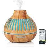 Czemo 400ml Diffusore di Oli Essenziali Ultrasuoni Diffusore di Aroma con Telecomando, Aromaterapia Elettrico Profumatore per Ambienti, Casa, Yoga