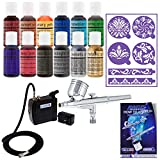 Master Airbrush Cake Decorating Airbrushing System Kit with a Set of 12 Chefmaster Food Colors,...