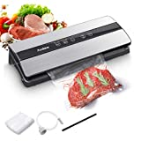 Audew Food Vacuum Machine, 80KPA 5 in 1 Automatic Wet and Dry Vacuum Sealer, Smart LED Indicator, 10Pcs Vacuum Bags for Preserving Meats, Fruits, Vegetables