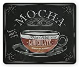 Lunarable Coffee Mouse Pad, Mocha Cup Hot Chocolate Espresso Old Fashioned Italian Chalkboard