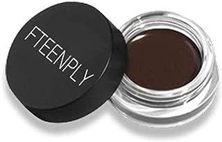 FTEENPLY Brow Pomade Long Lasting, Buildable, Eyebrow Makeup, Waterproof Eyebrow Cream Gel, Chocolate, 0.14 Ounce