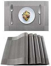 EXCO placemats Placemats, set van 6 stuks, PVC antislip tafelkleden Isolatie placemats Wasbare tafelkleden