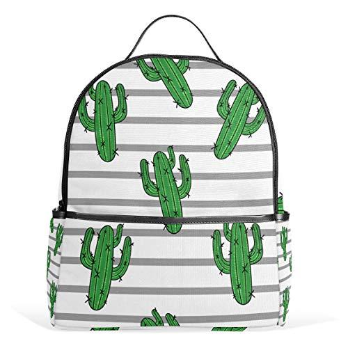 Orediy Gestreepte Cactus Rugzakken Schoolboek Tas Casual Reizen Dagrugzak voor Jongens Meisjes