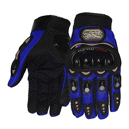 Touchscreen Leder Motorrad Hard Knuckle...