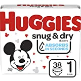 Huggies Snug & Dry Baby Diapers, Size 1, 38 Ct