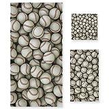 PIXIUXIU - Juego de 3 toallas de algodón altamente absorbentes de secado rápido para deportes de cara de béisbol, toallas de baño y manos para uso diario