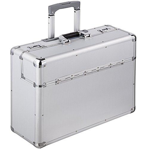 TecTake XL maletín de piloto cabin maleta trolley con cerradura y ruedas plata