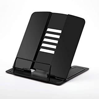 Decdeal Portable Metal Book Stand Book Holder Adjustable 5 Angles Bookstand Document Holder Bookshelf Reading Accessories ...