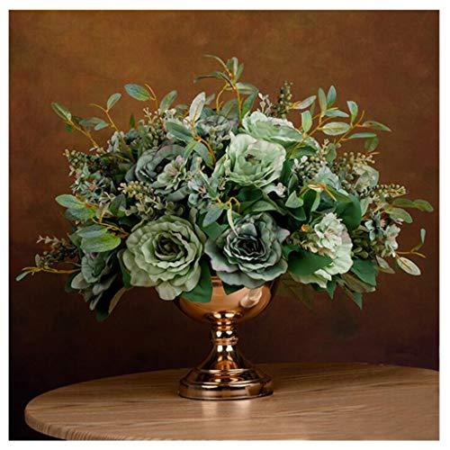 Flores Artificiales en Macetas Bonsai Flor de Plástico Rosas Artificiales de Simulación Y Macetas Están Hechas de Tela de Seda de Alta Gama El Teñido Es Uniforme La Textura Es Clara Fácil de Cuida