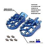 Reposapiés para Yamaha YZ 80 125 250 500 YZ80 YZ125 YZ250 YZ500 WR200 WR250 WR500 Hon.da XR 350 XR350 XR400 XR450 XR500 Dirt Bike Motocicleta Azul