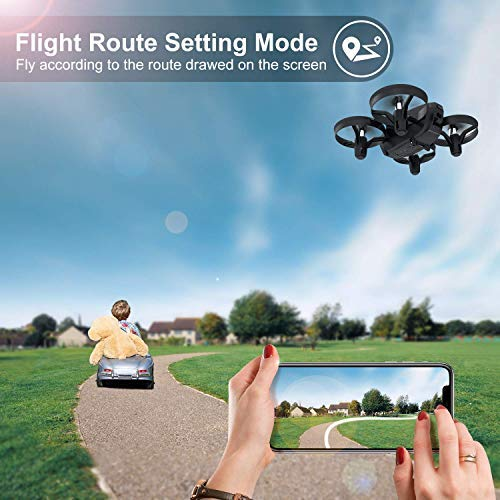 Potensic-Drone-with-HD-Camera-Mini-Drone-with-Induction-Mode-of-Gravity-FPV-24G-WiFi-Altitude-Hold-Headless-Mode-One-Key-Takeoff-and-Landing-Gift-Toys-Black-A20W-with-2-Batteries