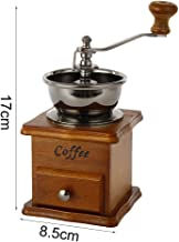 Coffee Grinder Wooden Manual Coffee Grinder Retro Style Stainless Steel Hand Burr Coffee Vintage Maker Grinders Machine for Home