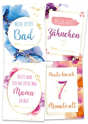 Meilensteinkarten Baby DREAM, Baby Meilensteinkarten, Milestone Baby Cards
