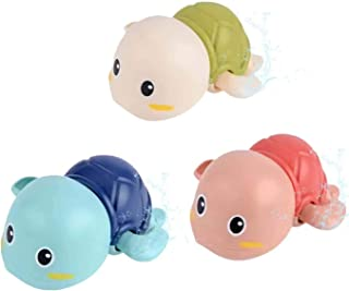 Excefore Baby Bath Toys, Wind up Swimming Turtle Toys for Toddlers, Floating Water Bathtub Shower Toys, Bathroom Pool Play...