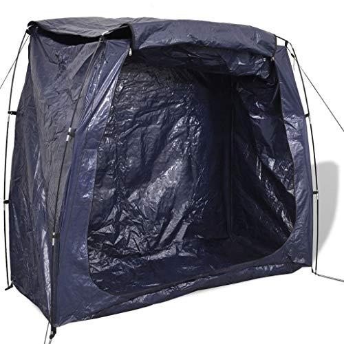 vidaXL Tenda per Riporre la Bicicletta 200x80x150cm Blu