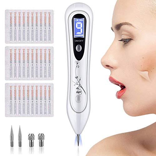 BUDDYGO Warzen Entfernen Muttermal Entfernung Stift, LCD-Bildschirm 9 Stärke Stufen für Gesicht und Körper Entfernt effektiv Haut Tag(Warzen, Nävus, Muttermale, Tattoo, Pigmentflecken, Altersflecken)