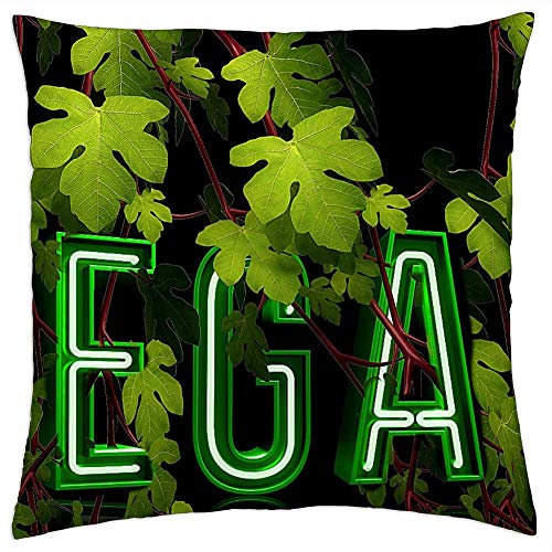 LESGAULEST Throw Pillow Cover (24x24 inch) - Vegan Green Nutrition Setting Meatless Healthy 1
