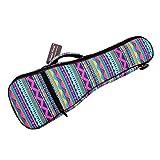 MUSIC FIRST Canvas 21' Soprano Pink Geometric Patterned Ukulele Bag Ukulele Cover Ukulele Case Version 2.0