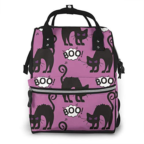 UUwant Sac à Dos à Couches pour Maman Halloween Cat Girls Autumn Diaper Bags Large Capacity Diaper Backpack Travel Nappy Bags Mummy Backpackling