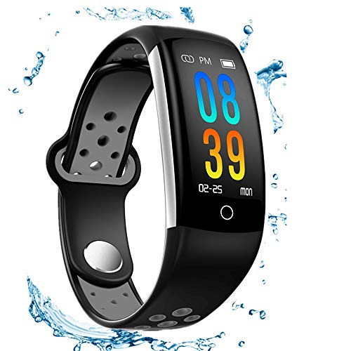 Fitness Tracker, IP68 Waterproof Activity Tracker Watch with Heart Rate Monitor,Smart Fitness Band with Step Counter, Calorie Counter, Pedometer Watch for Kids Women and Men