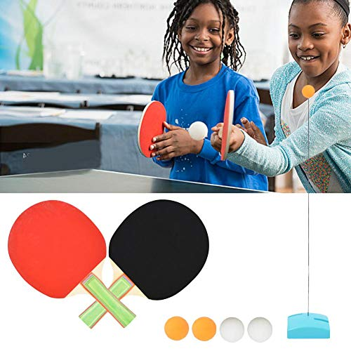 Read About Table Tennis Trainer with Elastic Soft Shaft 109 cm,Rebound Table Tennis Practice,Leisure...