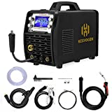 HZXVOGEN MIG Welder 100V/220V 200Amp Pulse Weld Aluminum Wider LCD Display Smart Control IGBT Inverter MIG Stick TIG Mix Gases Gasless Flux Cored Wire Solid Core Wire Welding Machine (Model: HBM2280)