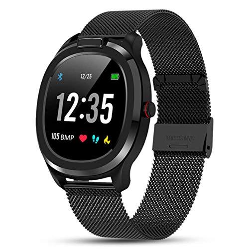 Lugang Activity Tracker Uhren, Bluetooth Fitness Trackers Mit Körpertemperaturüberwachung Und EKG-Anzeige, Smart Watch Mit Touch Screen Und IP68 Wasserdicht,Schwarz