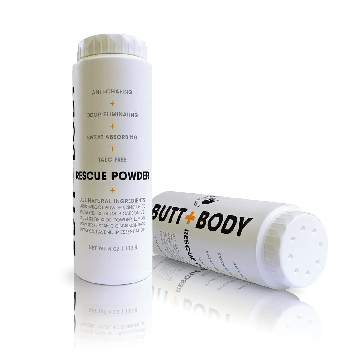 Butt and Body Rescue Powder - Stops Itching & Chafing, Absorbs Sweat & Eliminates Odors Naturally. Protects, Soothes & Deodorizes Irritated Skin, Talc Free. Made in USA (4 Ounce - 1 Pack) : Beauty
