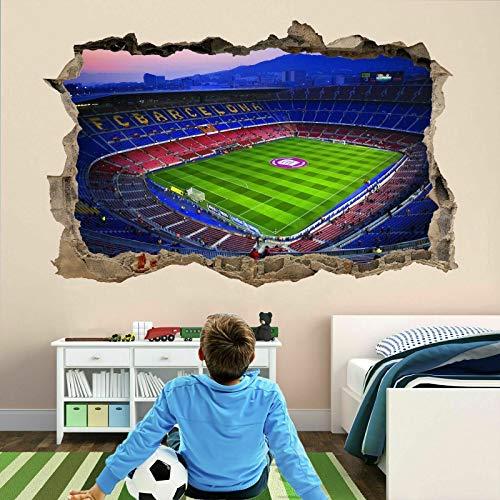 Nou Camp Barcelona Stadium 3D Wall Art Stickers Mural Kids Bedroom Football AJ9