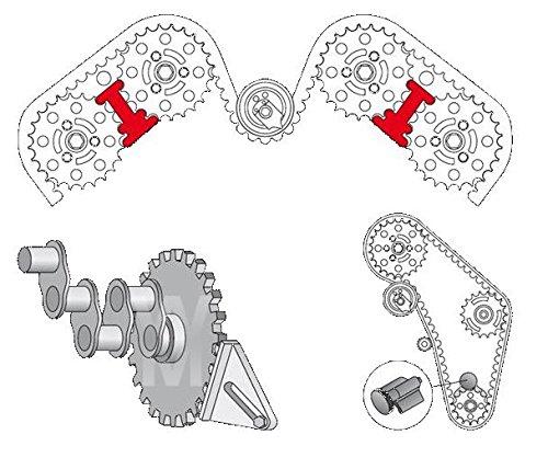 19pcs Universal Motor Adapter Nockenwelle Sperren Werkzeug-Set f/ür Kette von Zahnriemen