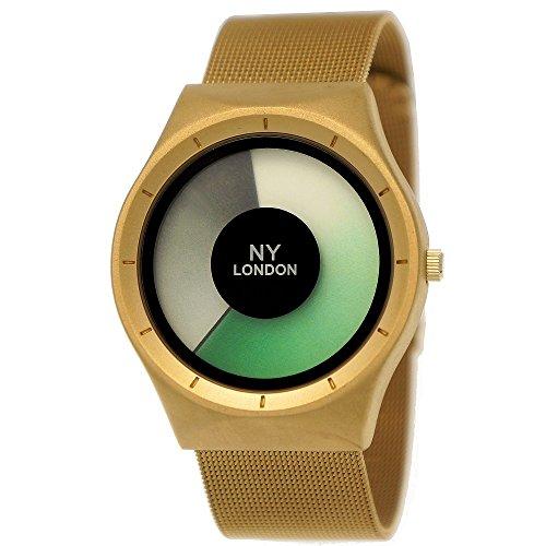 Elegante NY London Designer Damen-Uhr Herren-Uhr Future Optik Milanaise Armband-Uhr Unisex Analog Klassisch Quarz-Uhr Grau Gold Grün Weiß