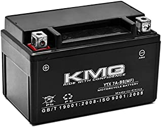 KMG Battery For Kymco 50 Super 8 2009-2012 YTX7A-BS Sealed Maintenance Free Battery High PerFormance 12V SMF OEM Replacement Powersport Motorcycle ATV Scooter Snowmobile