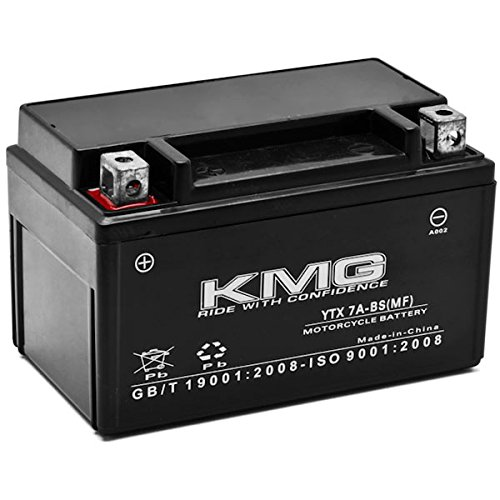 KMG Battery Compatible with Kymco 150 Super 8 150 2009-2012 YTX7A-BS Sealed Maintenance Free Battery High PerFormance 12V SMF OEM Replacement Powersport Motorcycle ATV Scooter Snowmobile