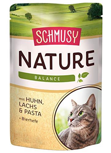 Schmusy Katzenfutter Nature Balance Huhn+Lachs 100 g, 24er Pack (24 x 100 g)