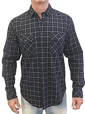 Logan 805 Men's 100% Cotton Long Sleeve Casual and Comfortable Flannel/Plaid Button Up Shirt