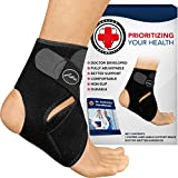 Doctor Developed Premium Copper Lined Ankle Support Brace [Single] and Doctor Written Handbook —Guaranteed Relief & Support for Ankle Injuries and Other Ankle Conditions