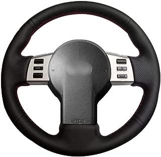 LEIDADA Black Leather Car Steering Wheel Cover, for Infiniti FX FX35 FX45 2003 2008, for Nissan 350Z 2003 2009