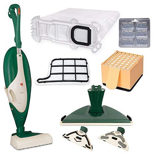 Piesseonline STM90976 Vorwerk Folletto VK 135 Aspiradora eléctrica EB 351 Set de filtros y cepillo para suelos duros, 1300 W, 42 litros, plástico