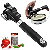 Safe Cut Can Opener, Smooth Edge Can Opener - Can Opener handheld, Manual Can Opener, Ergonomic Smooth Edge, Food Grade Stainless Steel Cutting Can Opener for Kitchen & Restaurant