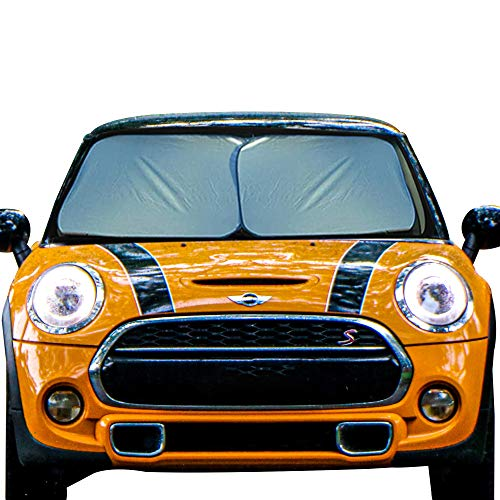 EcoNour Foldable 2-Piece Car Windshield Sunshade | Durable 240T...