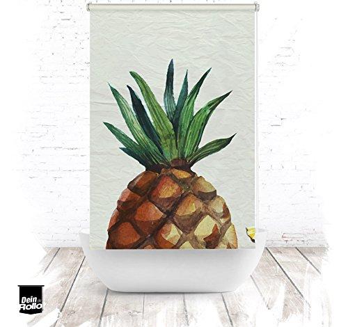 EXTARTIQE Duschrollo Ananas Duschvorhang Textil für Badewanne oder Dusche
