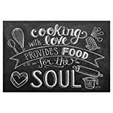 artboxONE Poster 60x40 cm Typografie Food for The Soul