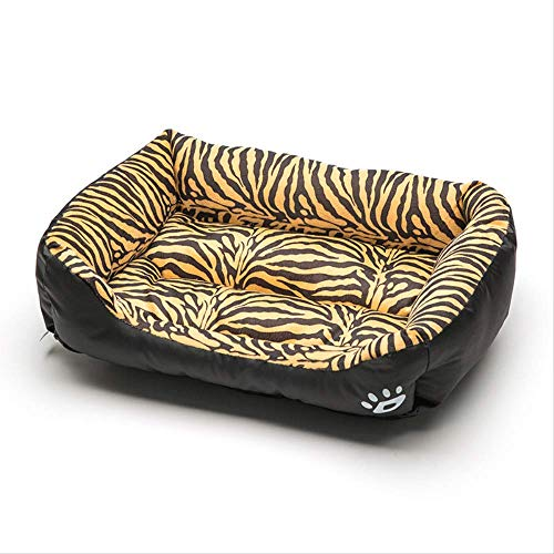 IWINO Square Pet Bed Tiger Luipaard Print 3 Size Soft Dog Bed Warming Puppy Bed House Zacht Materiaal Nest Hond Manden Warm Kennel